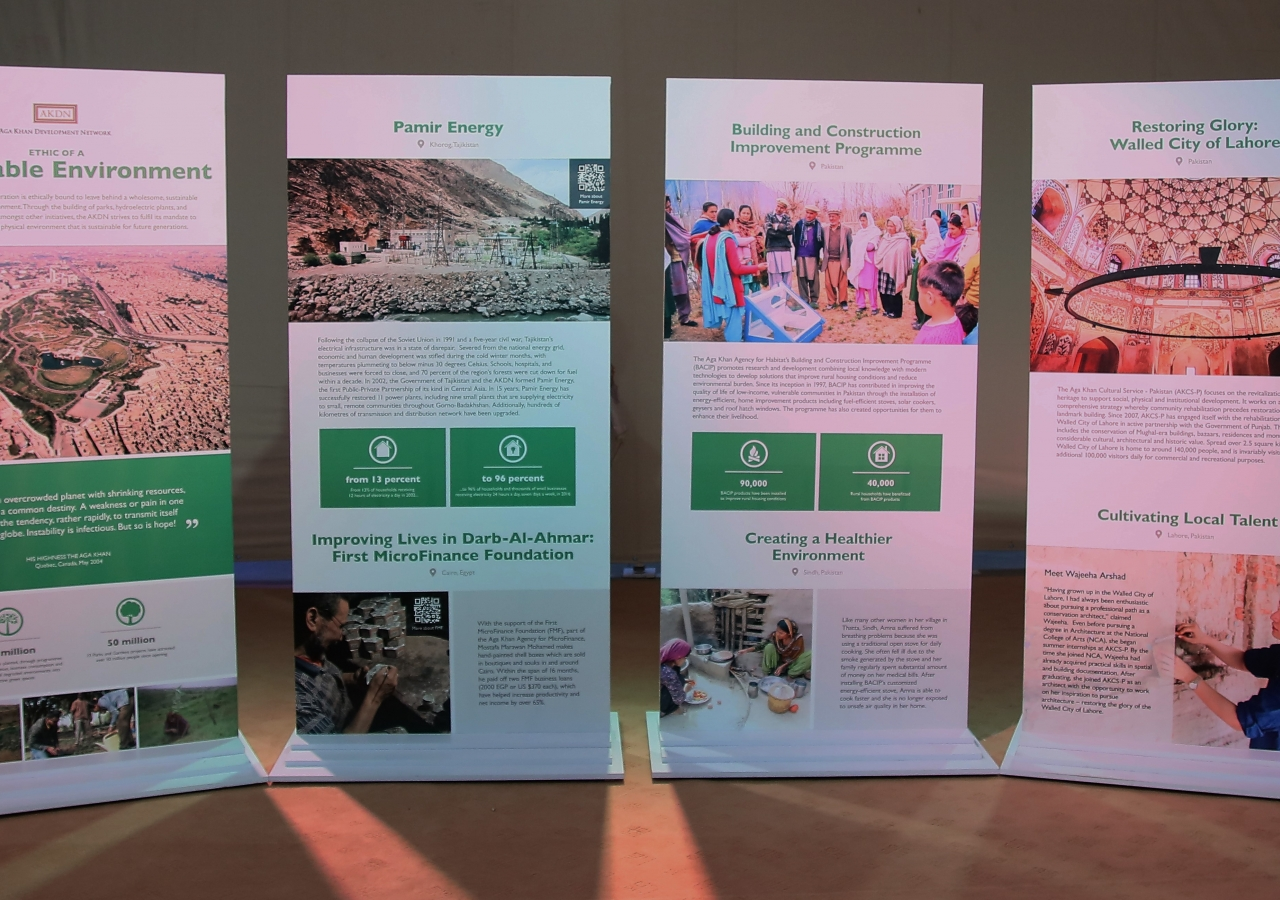 Exhibition panels on the Ethic of a Sustainable Environment