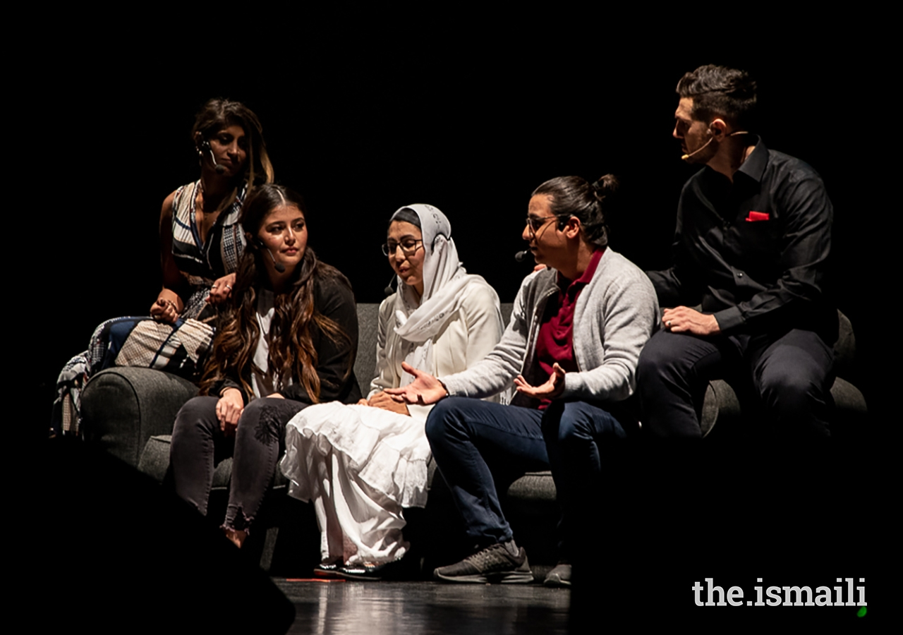 Actors perform as part of the narration of Rihla during the performance in Vancouver.
