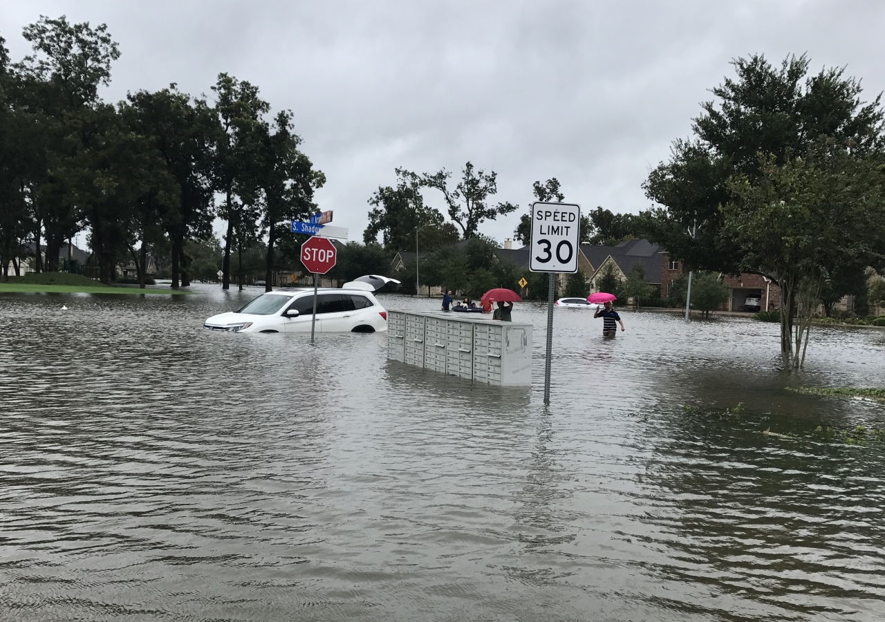 Hurricane Harvey, the first major hurricane to make landfall in the United States in over a decade, forced many residents out of their homes and into the floodwaters.