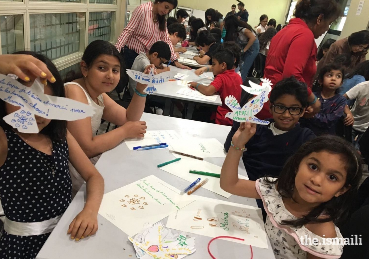 Murids of all ages were invited to participate in the Dove design activity