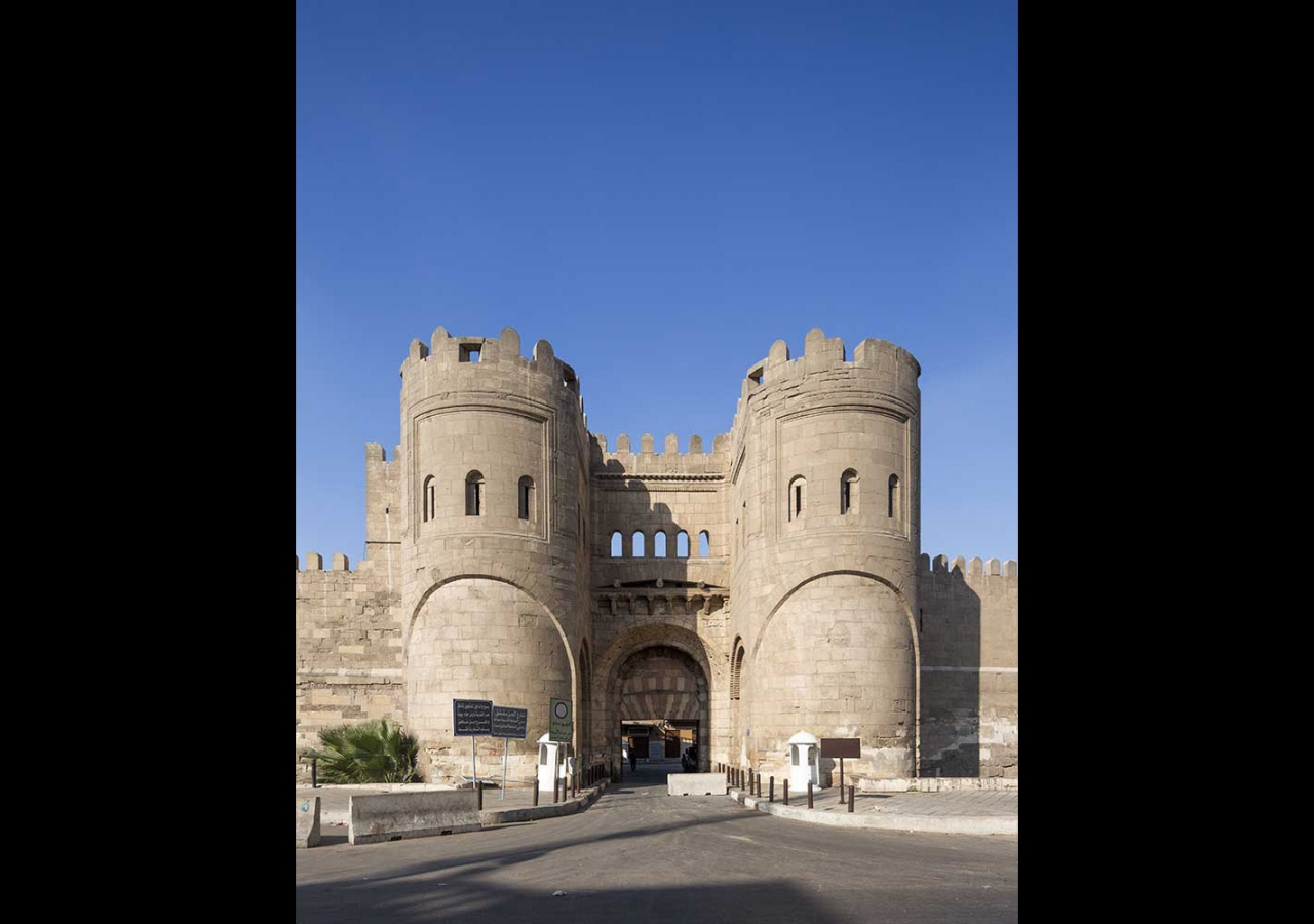 Situated at the northern limit of the Fatimid Cairo, the stone gate of Bab al-Futuh together with Bab Zuwayla to the south, mark the endpoints of the main boulevard of the Fatimid city. Bernard O'Kane