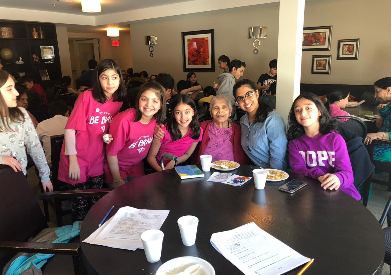 Generations Phase 1 - Bait ul-Ilm Students visit with Residents in Phase I