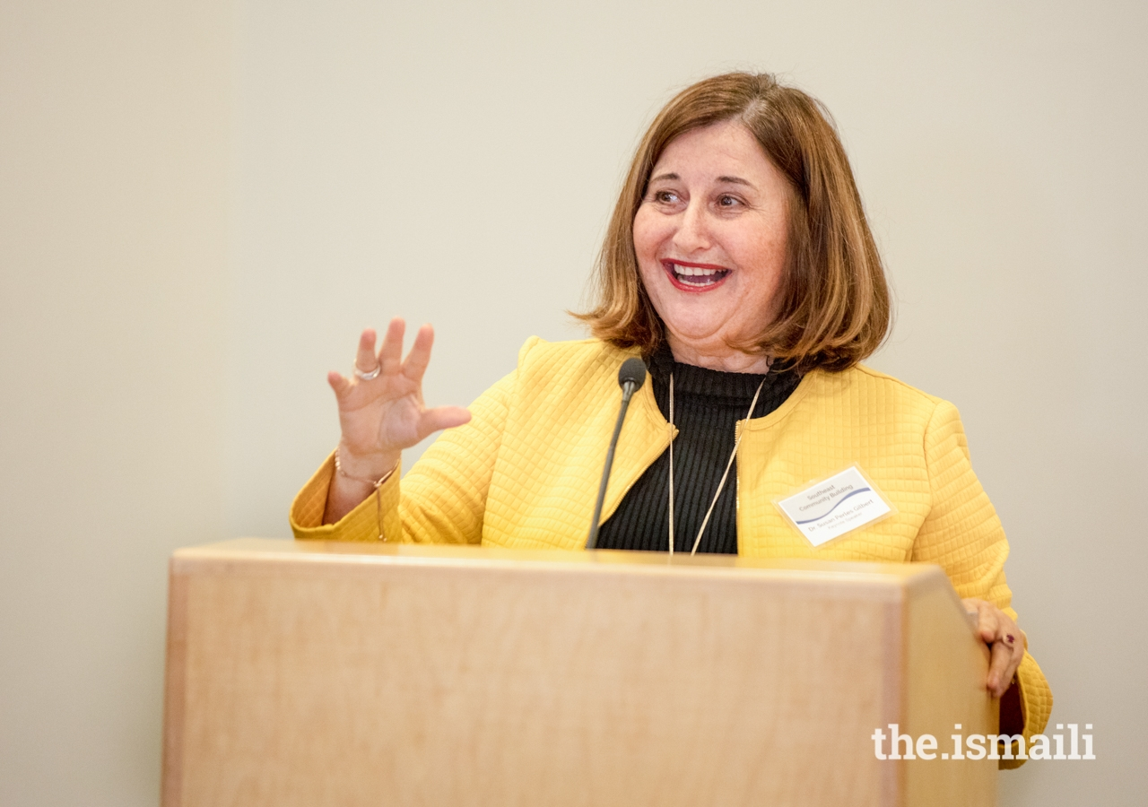 Keynote speaker Dr. Susan Perles Gilbert, Dean of Mercer University's Stetson School of Business and Economics, shared her Ivy League experience as an alumna of University of Pennsylvania.