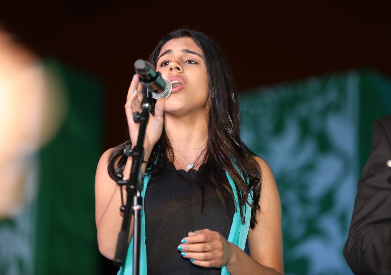 """Imaan Rajan sings the Jubilee Song, """"With Heart, With Love."""""""