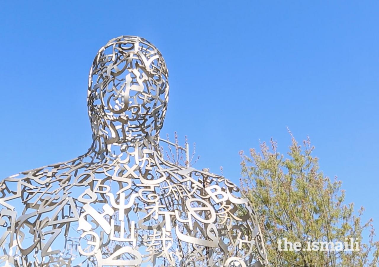 The sculptures were created by Spanish artist Jaume Plensa.