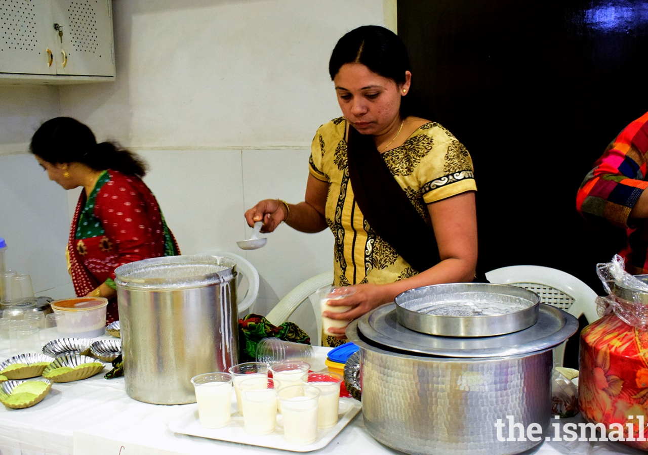 Participants of 'Hunar-The skill Mela' participating in the cooking event.