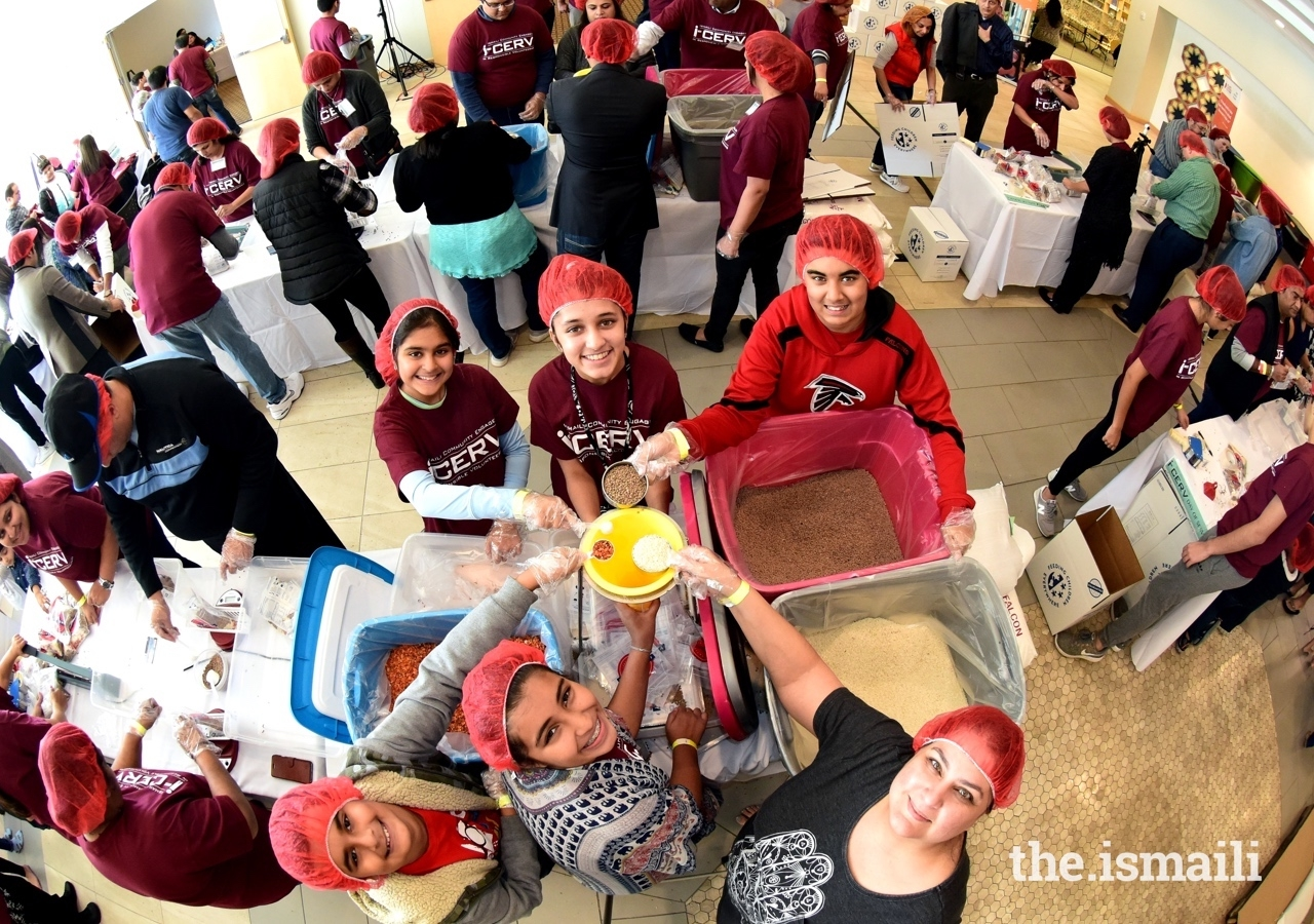 More than 500 Ismaili volunteers participated in the Southeast Jamat's 60 for 60: I-CERV Day of Service, packing 80,000 nutritious meals in total.