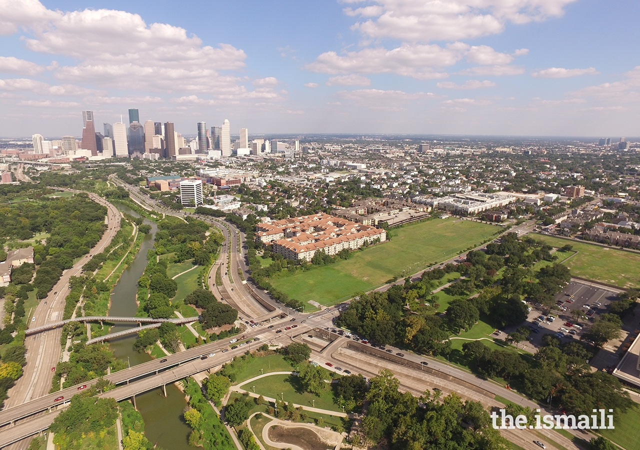 The Ismaili Center Houston will be located on an 11-acre site along the city's main waterway, the Buffalo Bayou.