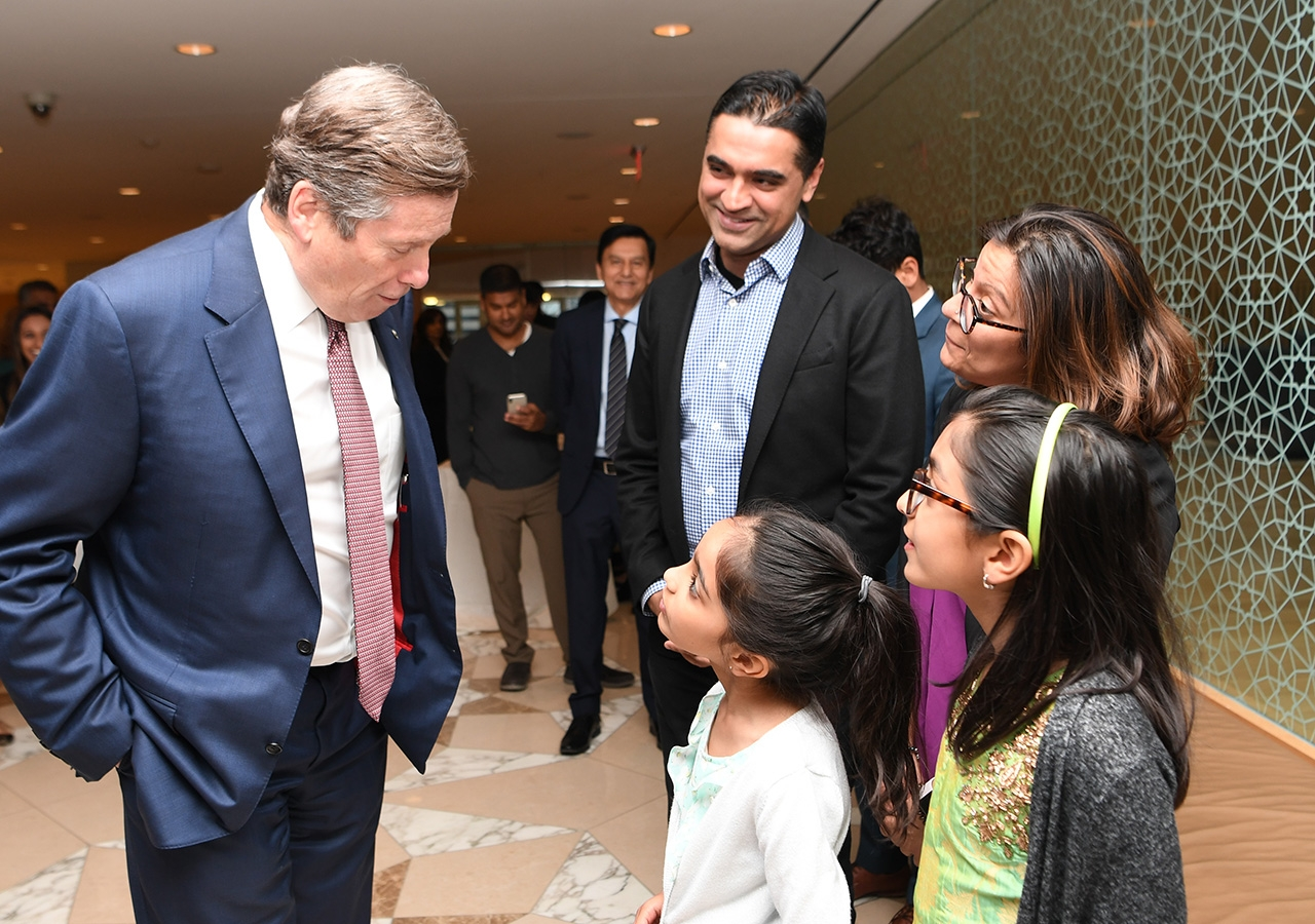 Mayor John Tory meets guests at ICT