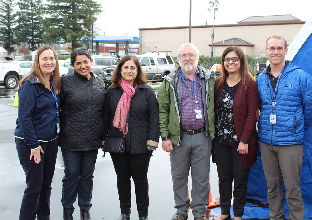 Left to right:  Monica Soderstrom, Shamsah Malik, Muneerah Merchant, Bruce Bailey, Amina Huda, and Dr. Andrew Miller, Health Officer Butte County Department of Health
