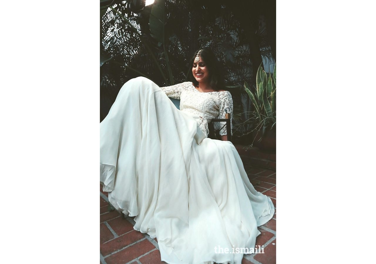 Aisha Rawjee of KYNAH in one of her designs.