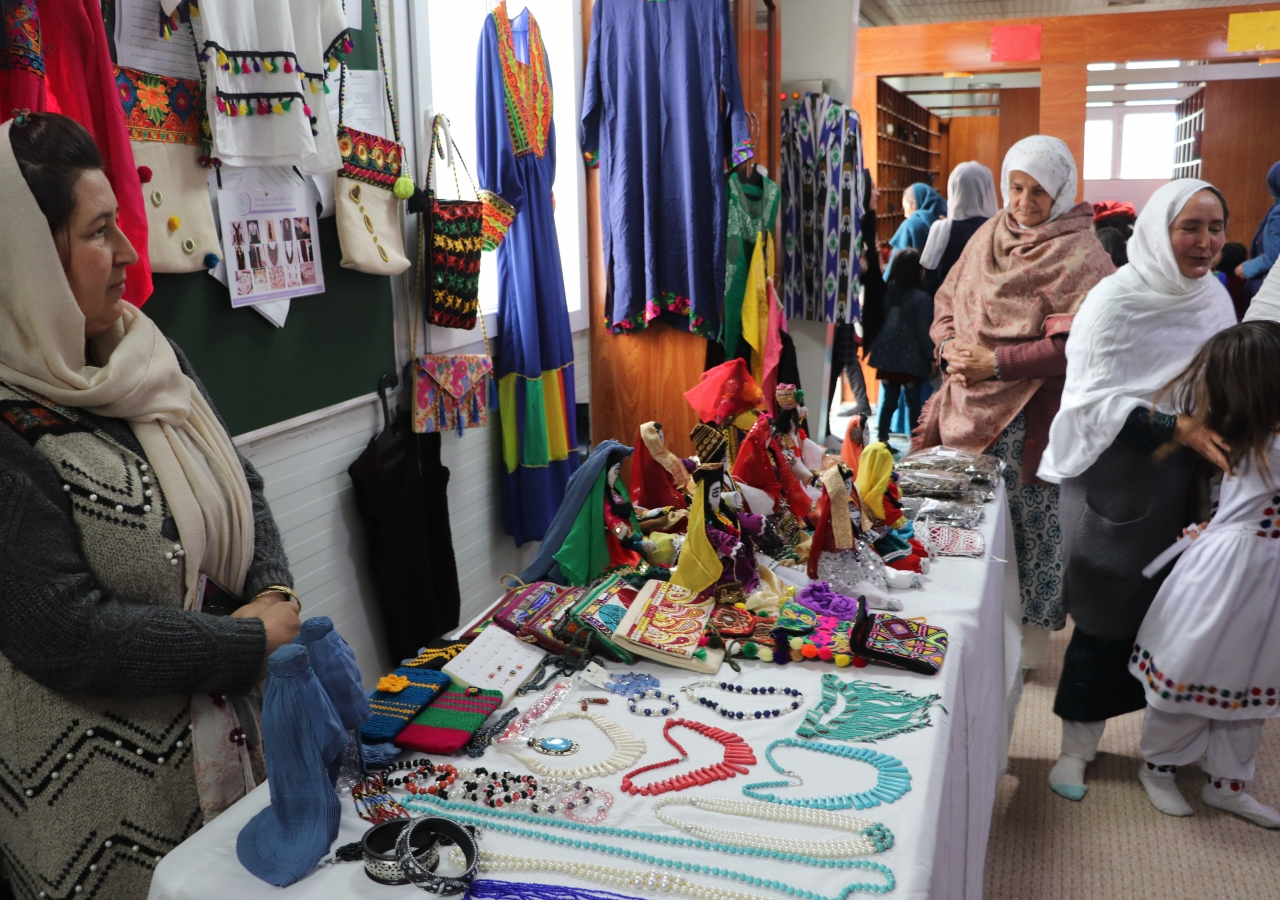 Exhibitions of women's art and handicrafts raised awareness of the artistic talent, and small business acumen of women in the community.