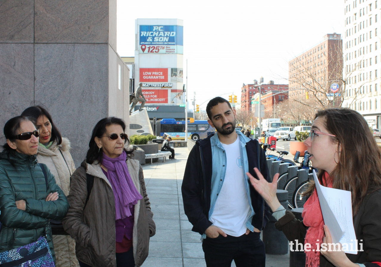 Jamati members from New York City were fascinated by the City's subtle connections to Islam, as pointed out by Ms. Merriman.