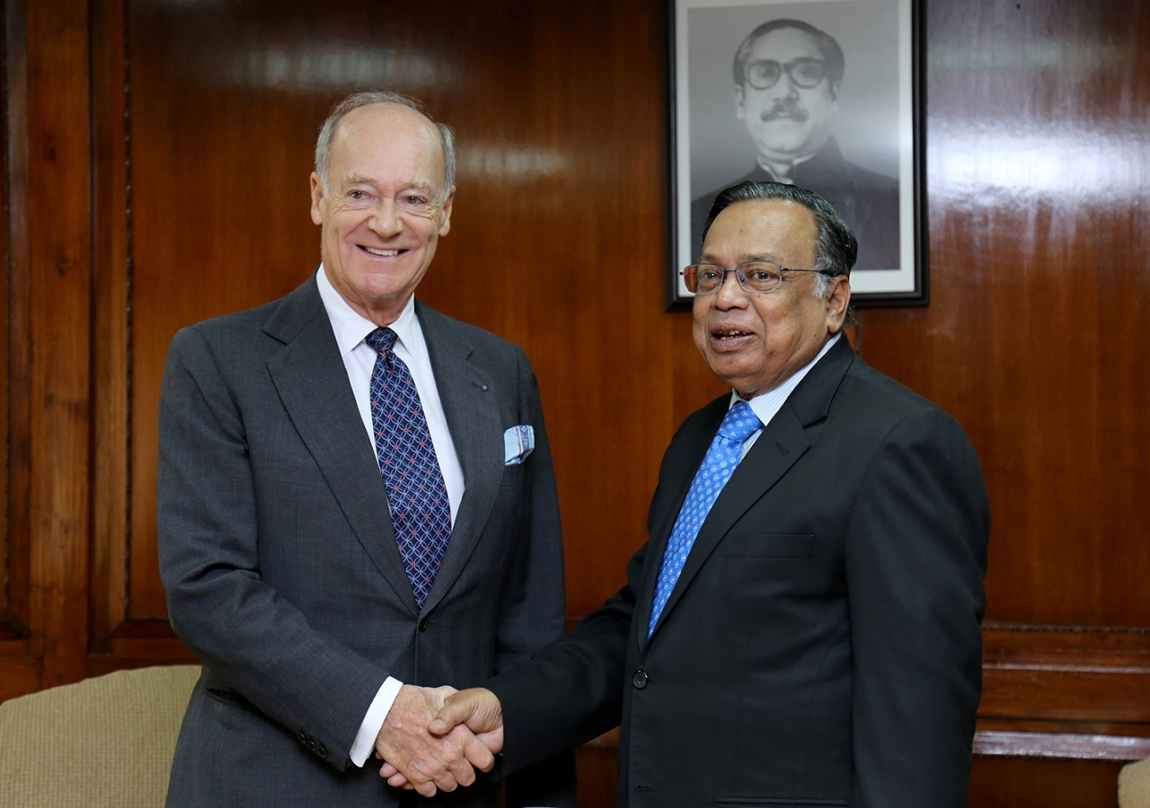 Prince Amyn presented his credentials to Foreign Minister Abul Hassan Mahmood Ali as Mawlana Hazar Imam's Personal Representative to the People's Republic of Bangladesh. AKDN Bangladesh