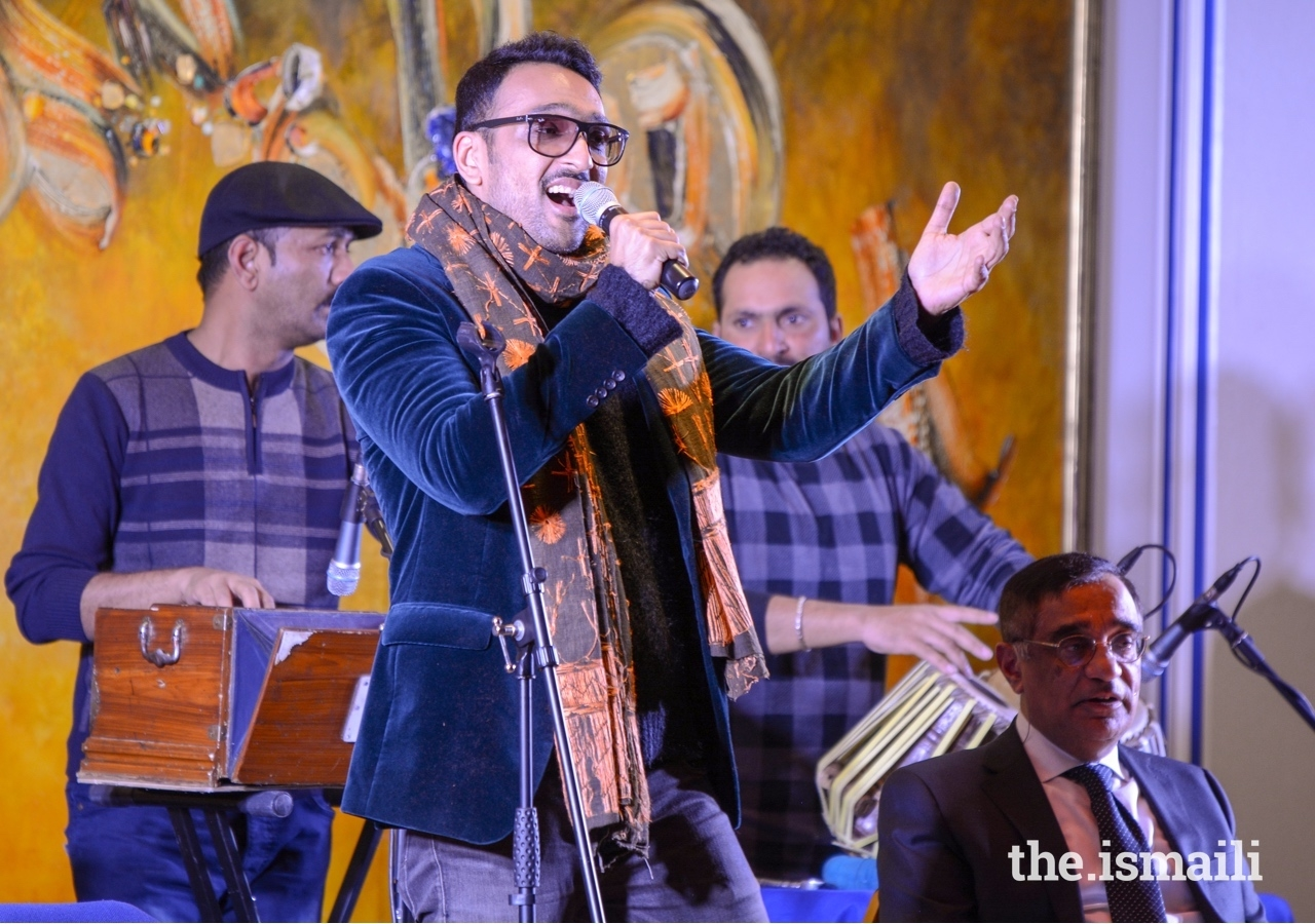 Acclaimed singer and author Ali Sethi performs at Misaq e Ishq, at the Ismaili Centre London.