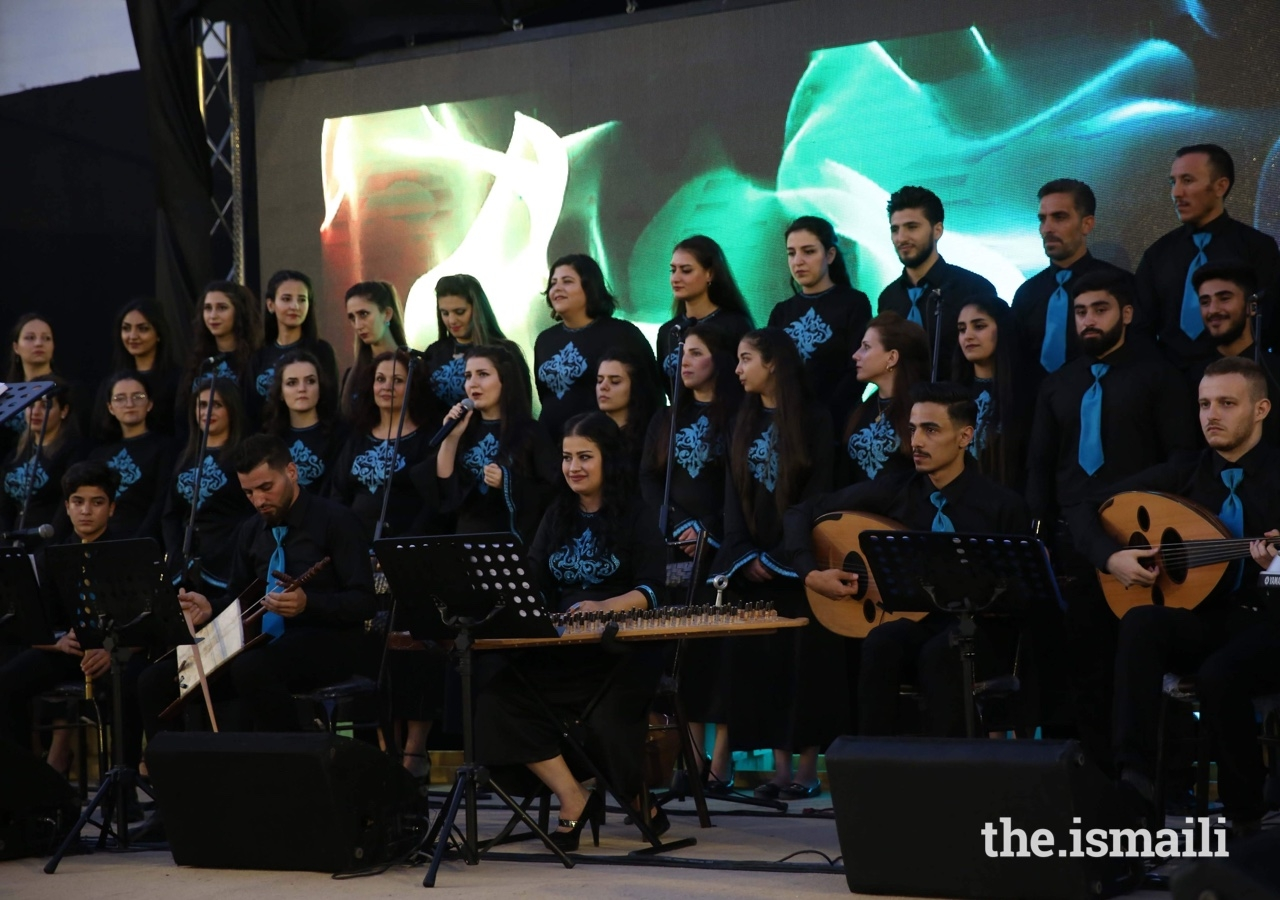 Jubilee Arts groups in Syria include folk arts, children's choir, adult choir, and an orchestra, reflecting the rich history of the region.