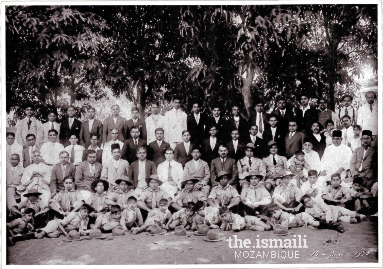 Members of the Jamat and Boy Scouts - 13 June 1932
