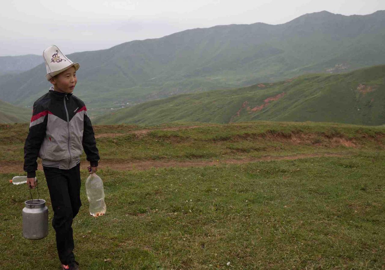 Rural landscape, Kyrgyzstan (2015). Baktybekov Atrur