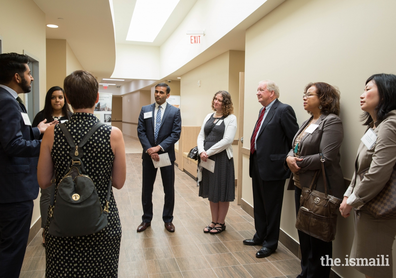 After the opening ceremony concluded, attendees were able to take guided tours of the building.