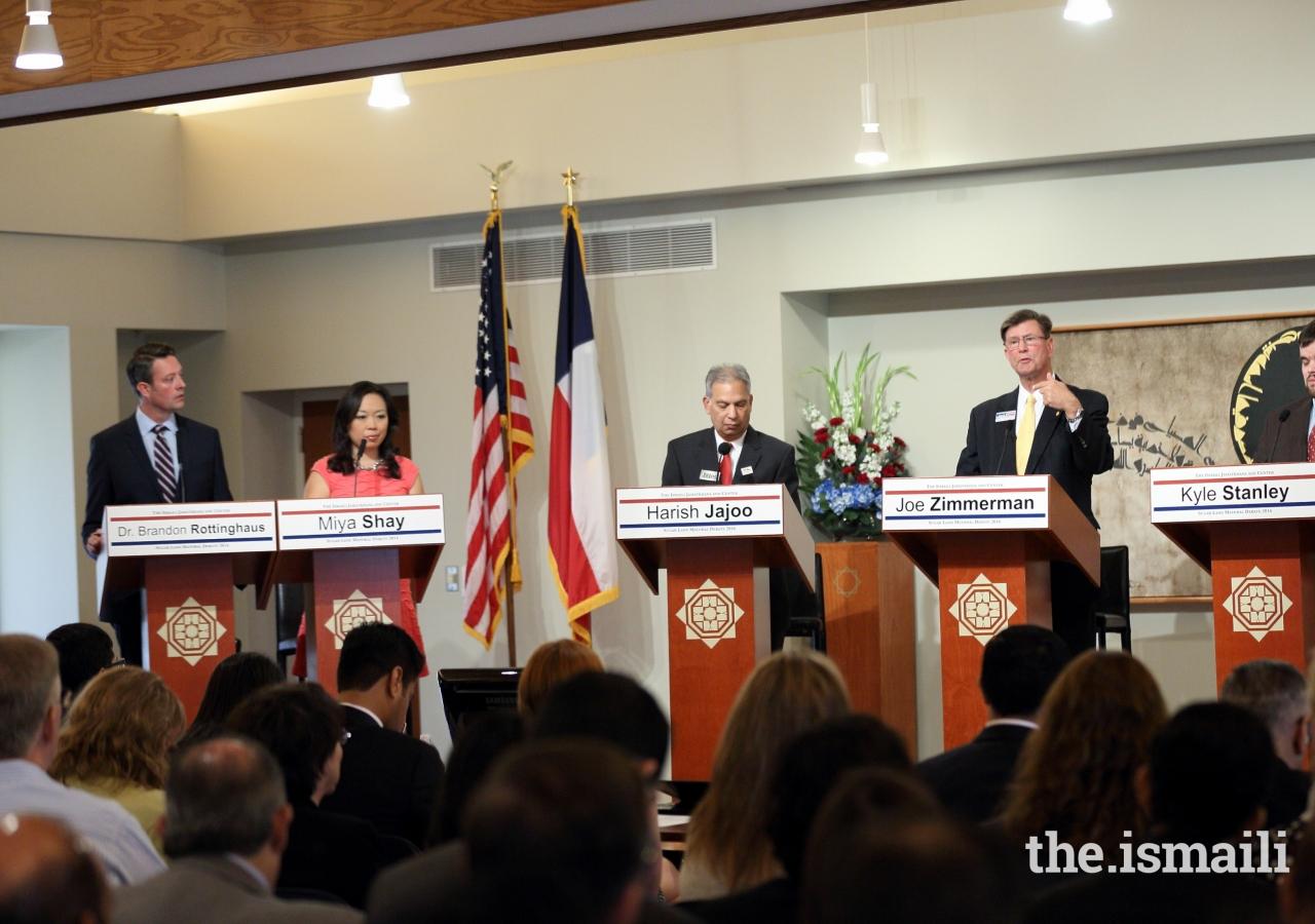 2016 Sugar Land Mayoral candidates debate at the Ismaili Jamatkhana and Center