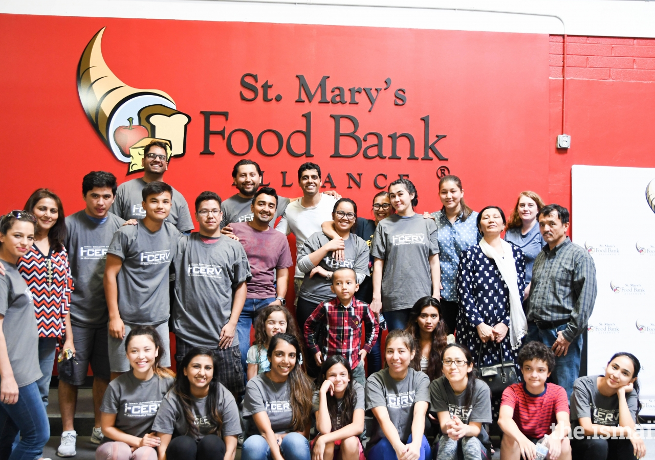 I-CERV volunteers at St. Mary's Food Bank, Phoenix, Arizona.