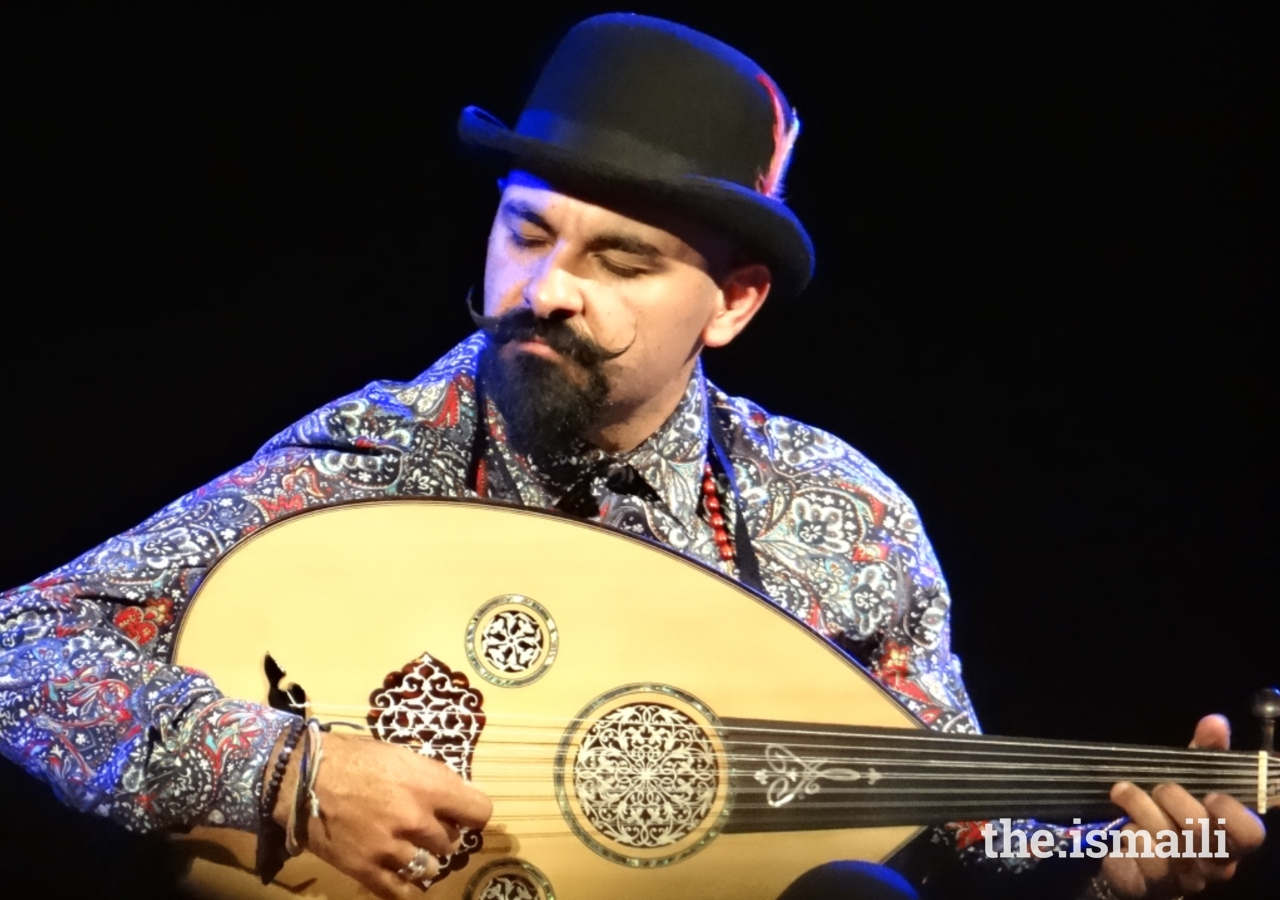 Joseph Tawadros performs at the Ismaili Centre, London in March 2019.