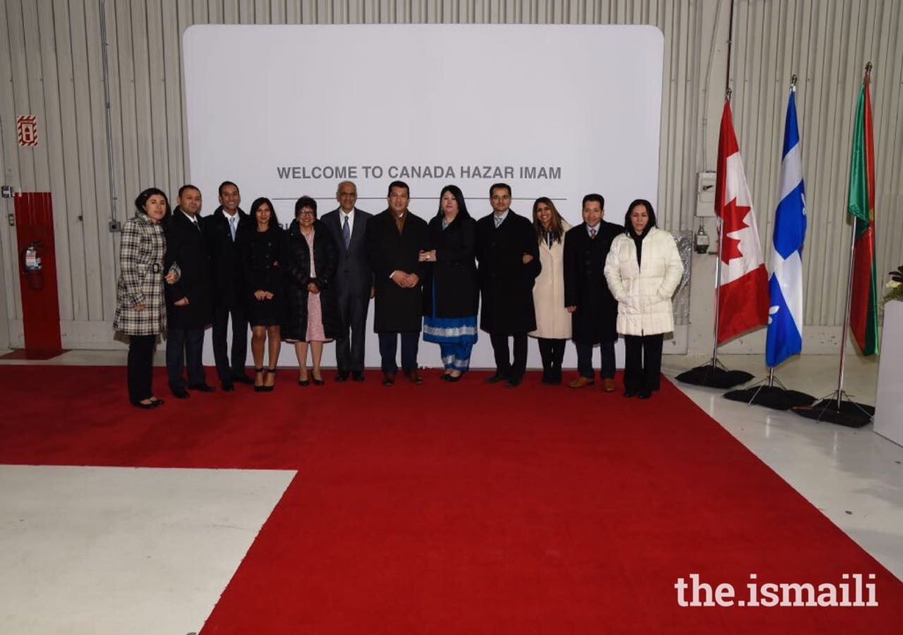 Leadership from Ottawa and Montreal after receiving Mawlana Hazar Imam in Montreal.