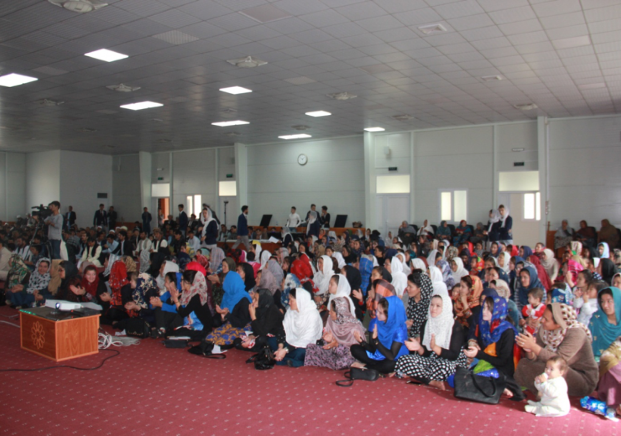 Members of the Jamat participate in a seminar on health and wellbeing