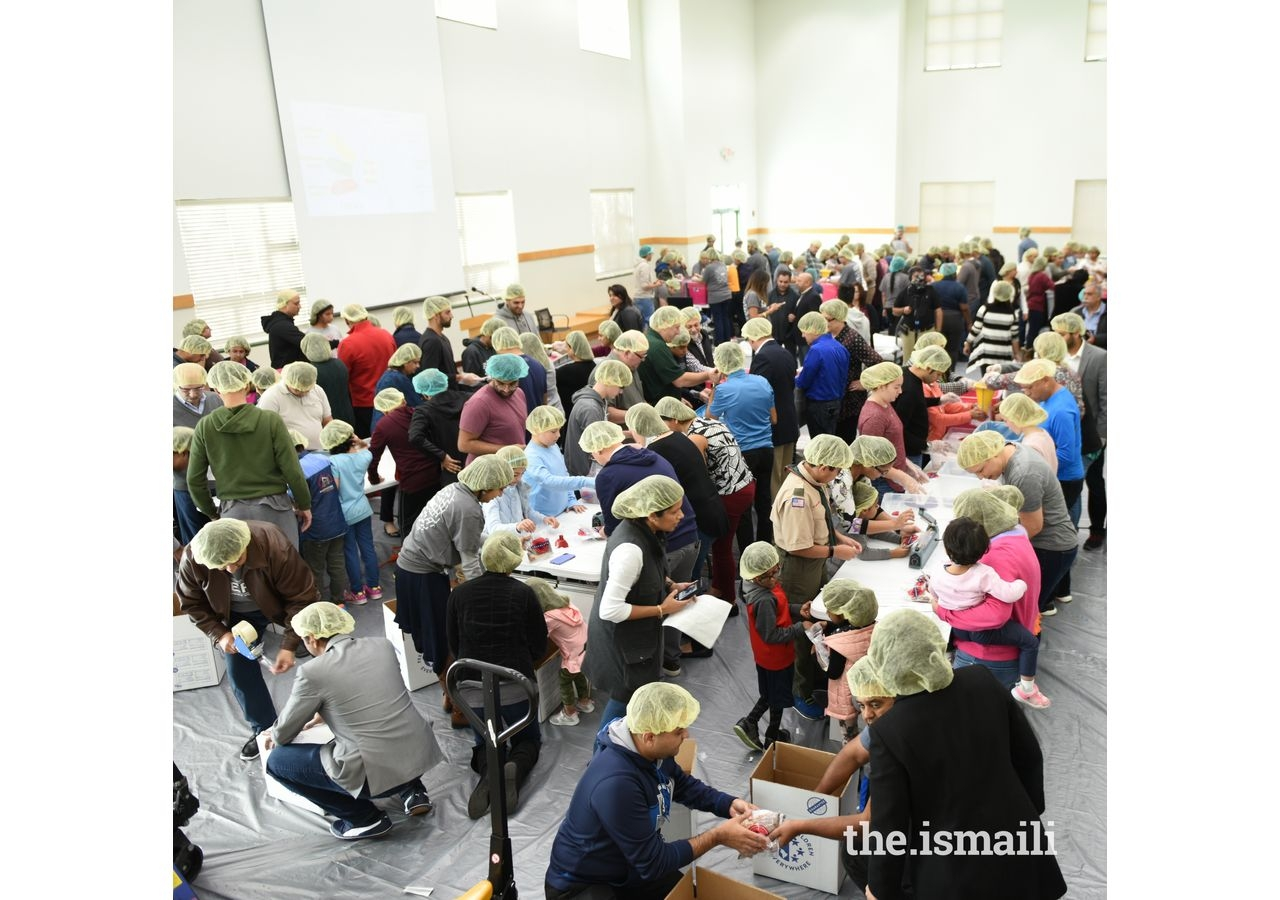 Over 400 volunteers, ages 8 and up, came to pack meals over the four hours in three different shifts. The meals were donated to five DFW-area food banks.