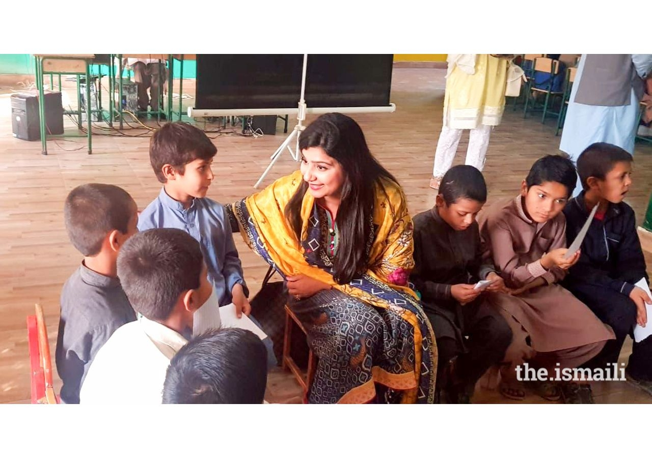 Listening to the children and trying to gain their trust. Nasreen feels society has failed them, but she wants to create a spark of hope in them for a better future.