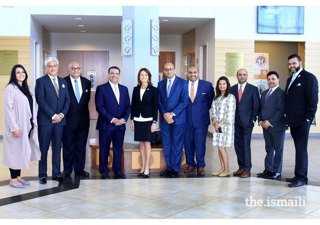 Senator Paxton visiting with AKA leadership, members of the Aga Khan Council for the Central US, AOC Steering Committee members and other leaders at Plano Jamatkhana.