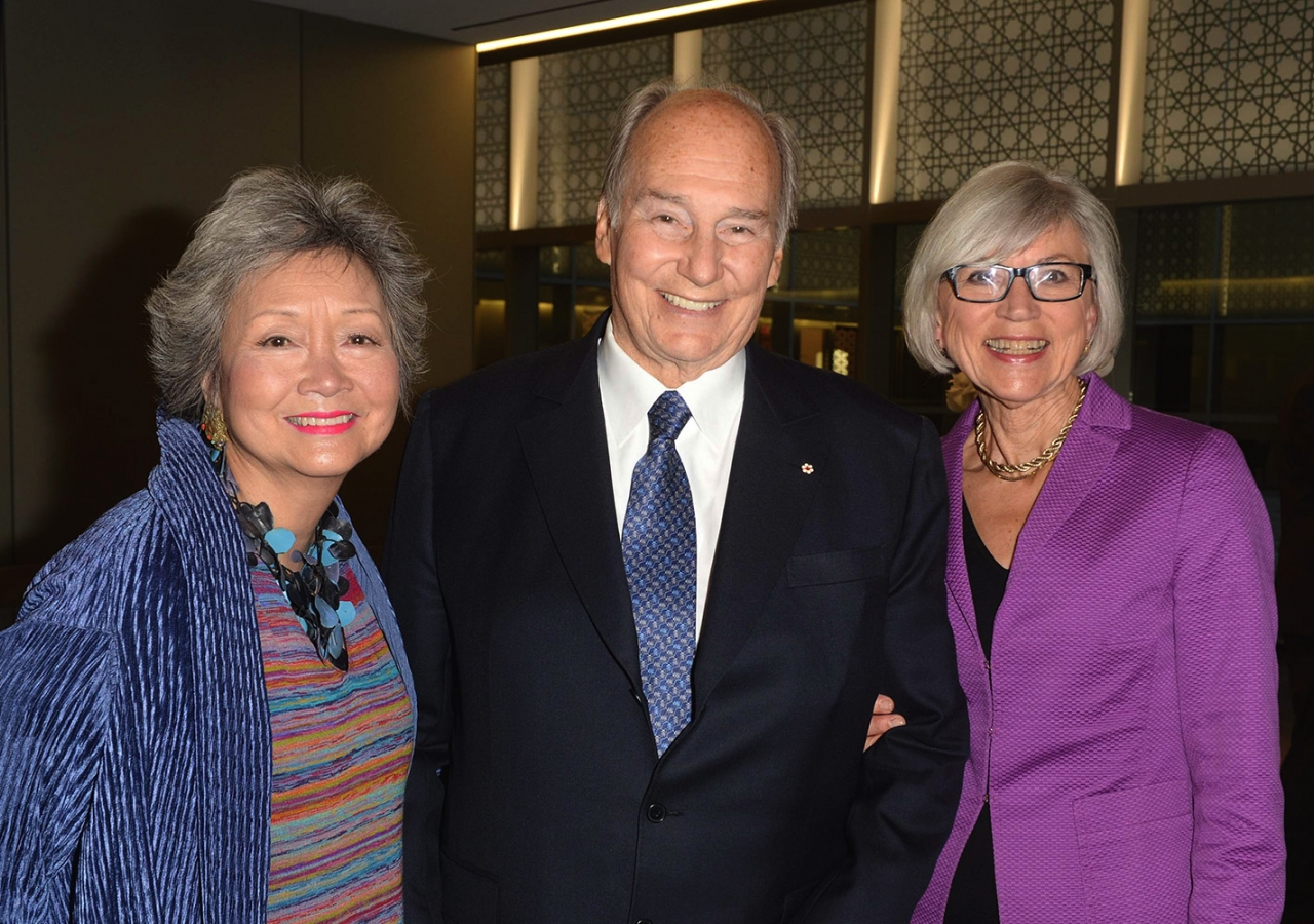 Former Governor General Adrienne Clarkson and Chief Justice Beverley McLachlin with Mawlana Hazar Imam at the Aga Khan Museum for the Global Centre for Pluralism Annual Lecture. GCP / T Sandler
