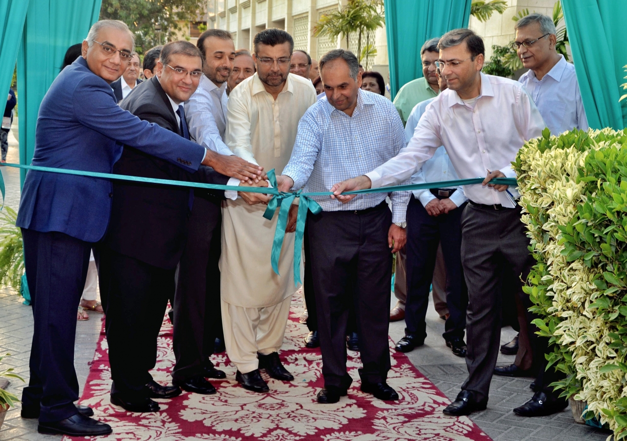 Ismaili Council for Pakistan President Hafiz Sherali and leaders of the Jamat inaugurate the Ethics in Action exhibition in Karachi