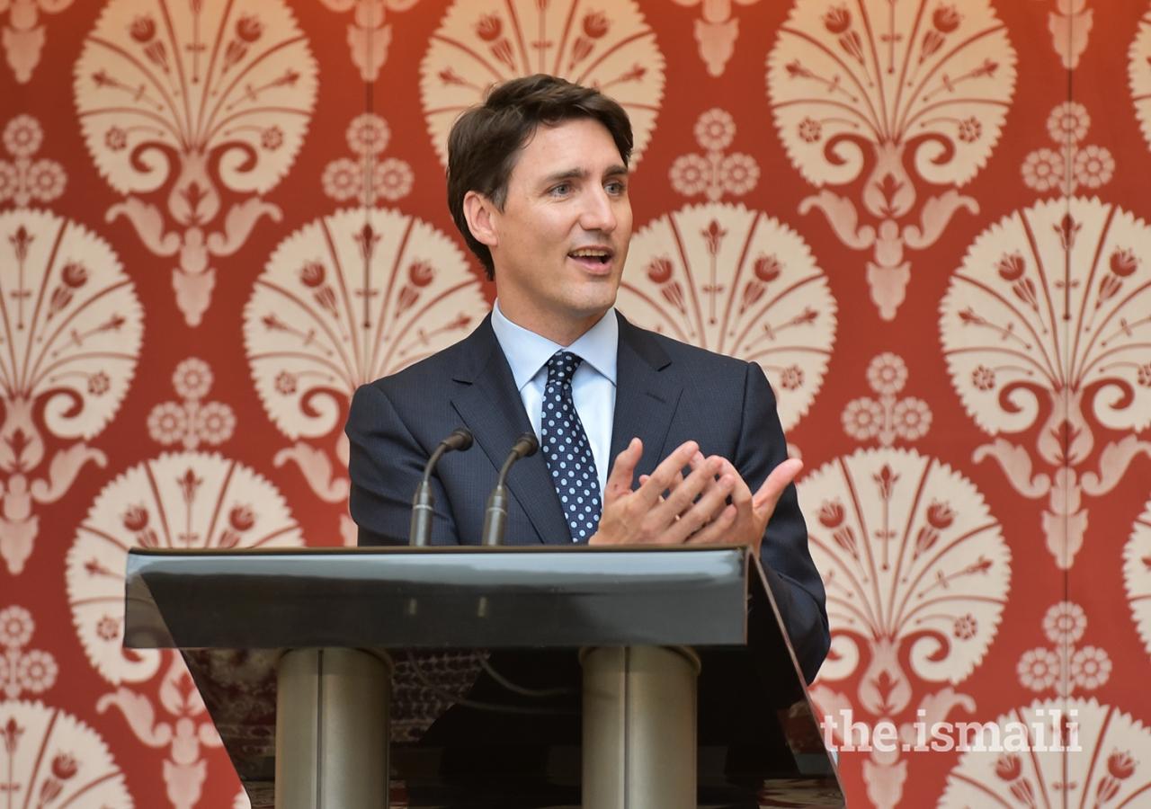 Prime minister Trudeau speaks at the Navroz festival at the Ismaili Centre Toronto