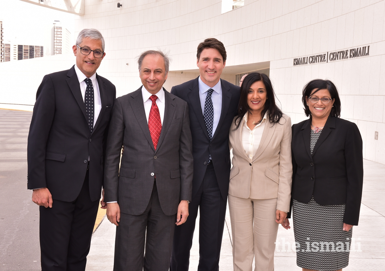 Prime Minister Trudeau with Jamati and AKDN leadership at the Ismaili Centre Toronto