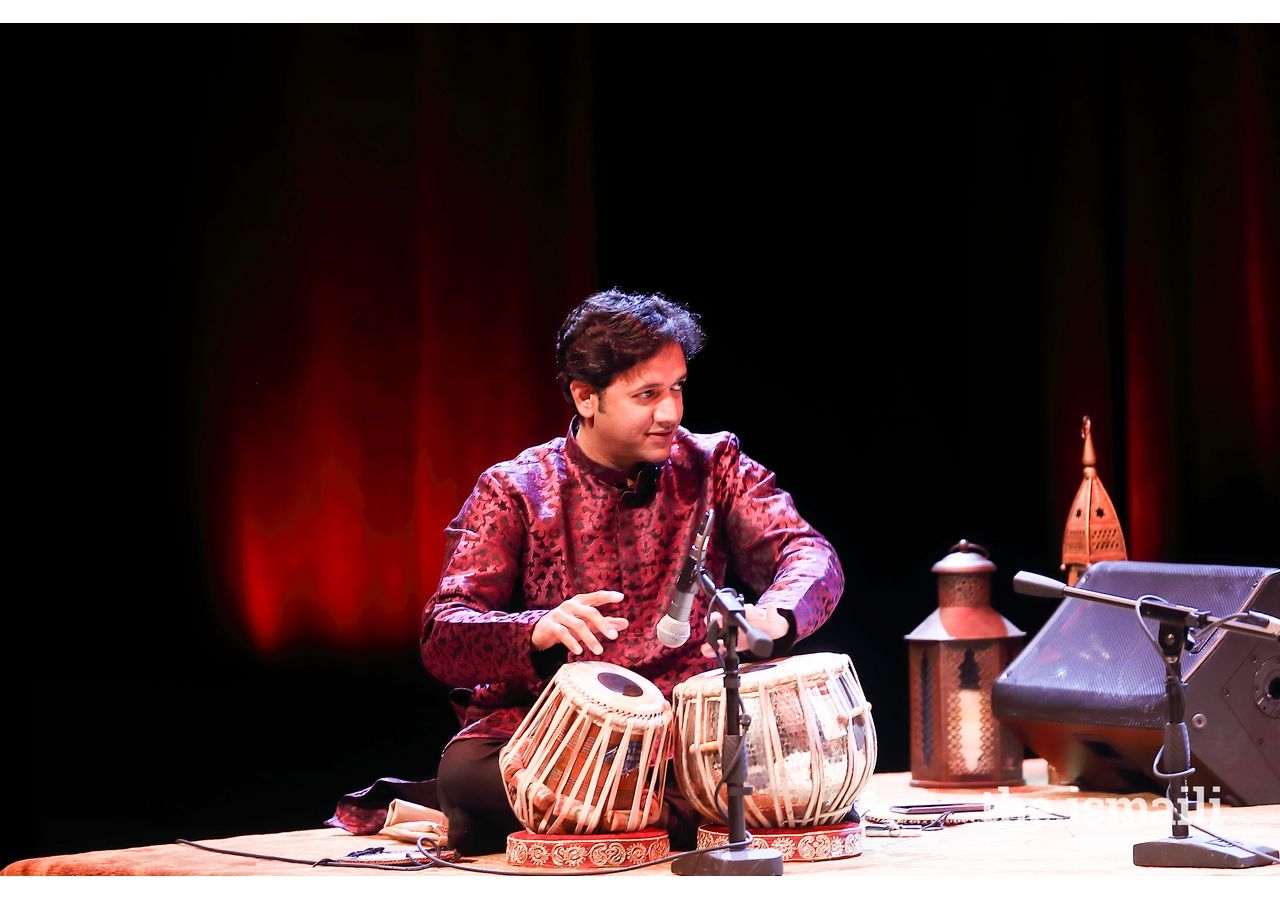 Tabla player, Nitin Mitta, performing at the Asia Society Center Texas.