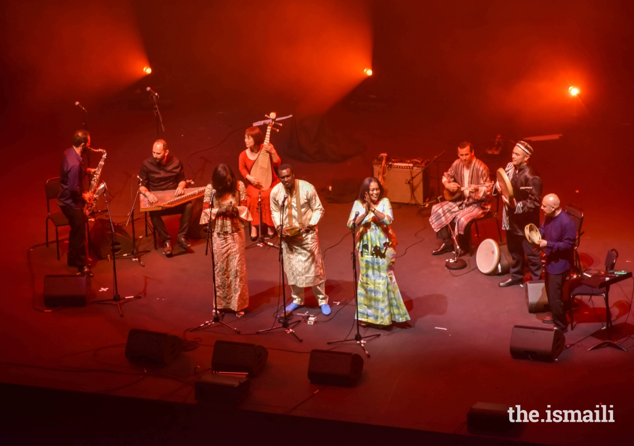 'Jubilee'featured Master Musicians of the Aga Khan Music Initiative, with special guests the San Francisco-based Kronos Quartet,and Bassekou Kouyaté.