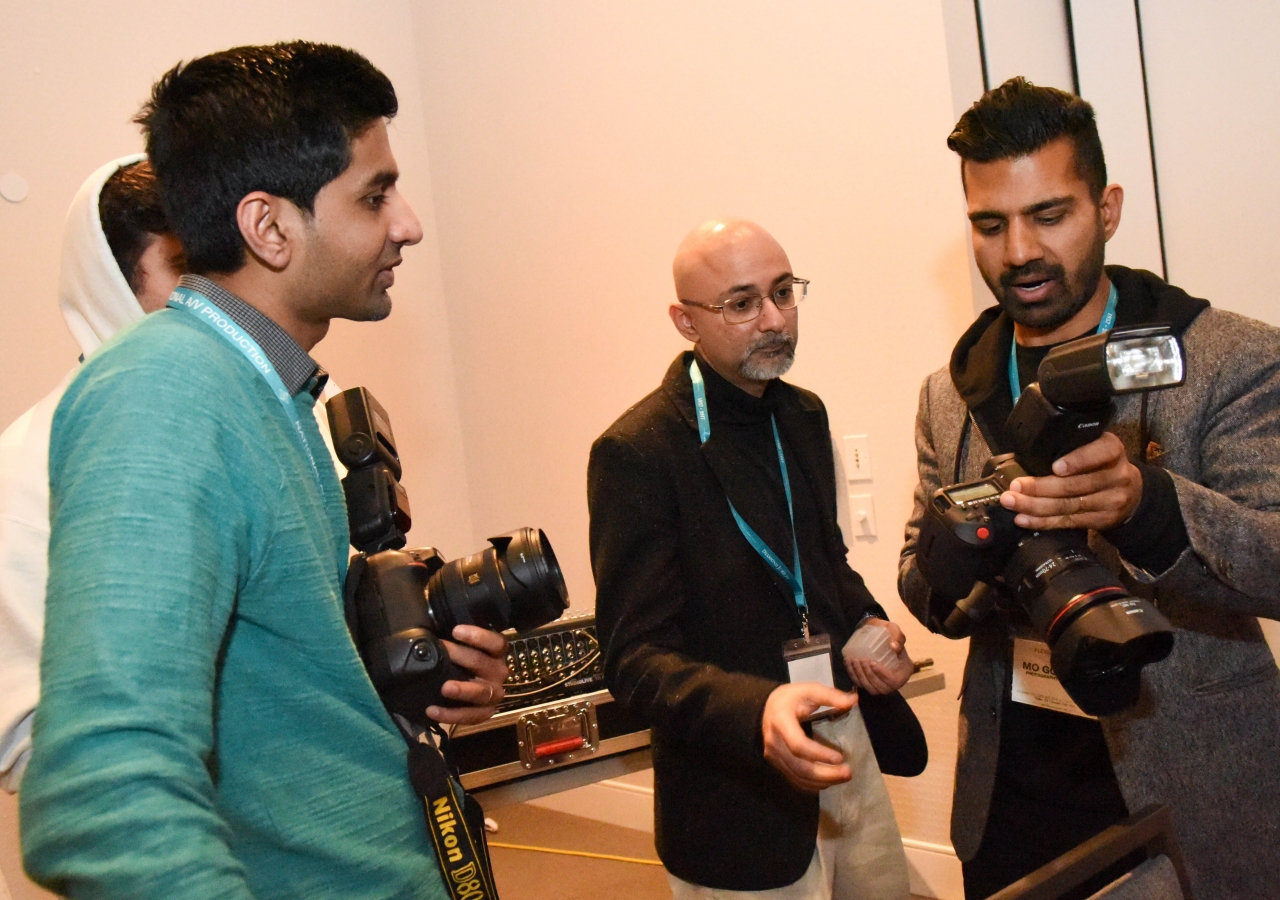 Photography workshop participants received hands-on training.