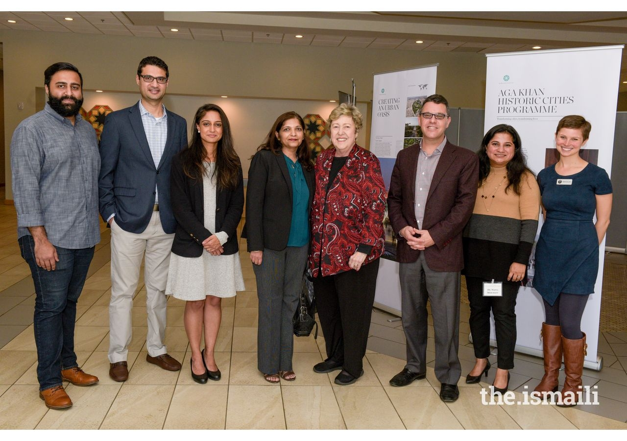 Salima Jaffer, President of the Ismaili Council for Southeastern United States, Kenny Blank, Executive Director of the AJFF, Sherry Frank, Board Member of the AJFF, and event organizers.