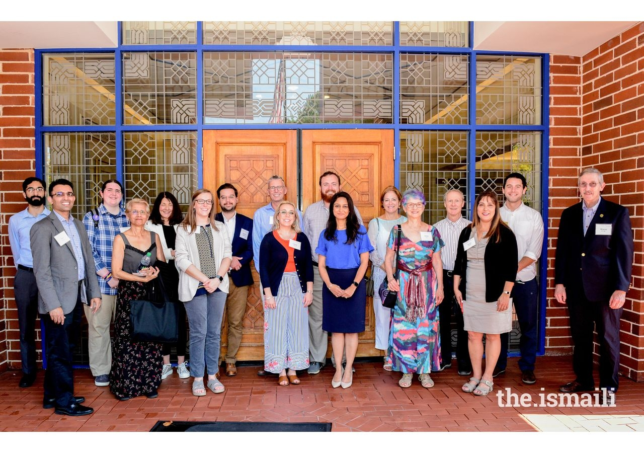 Educators and students, together with Ismaili community volunteers at the Ismaili Jamatkhana in Decatur, Georgia.