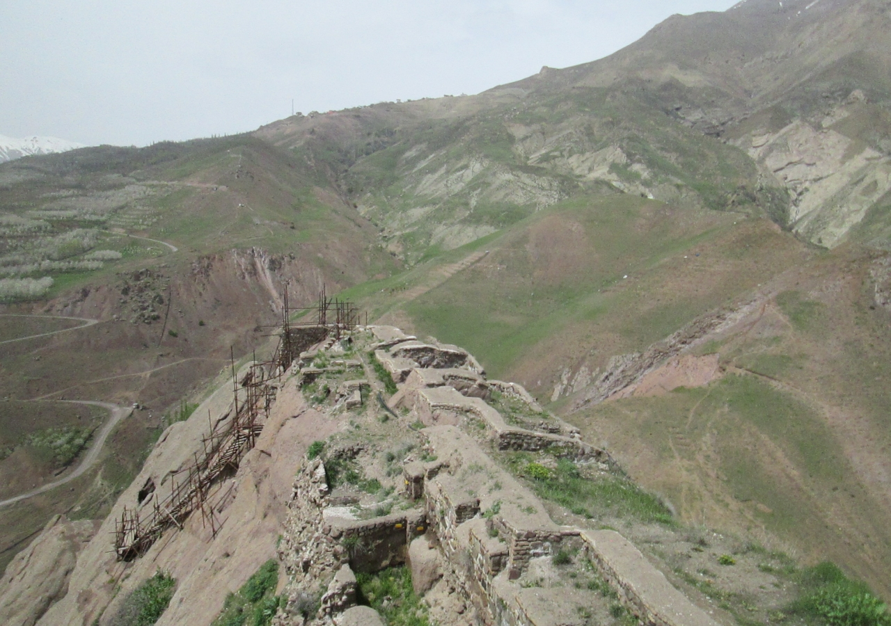 Remains of the fortress of Alamut in Iran which also housed a notable library