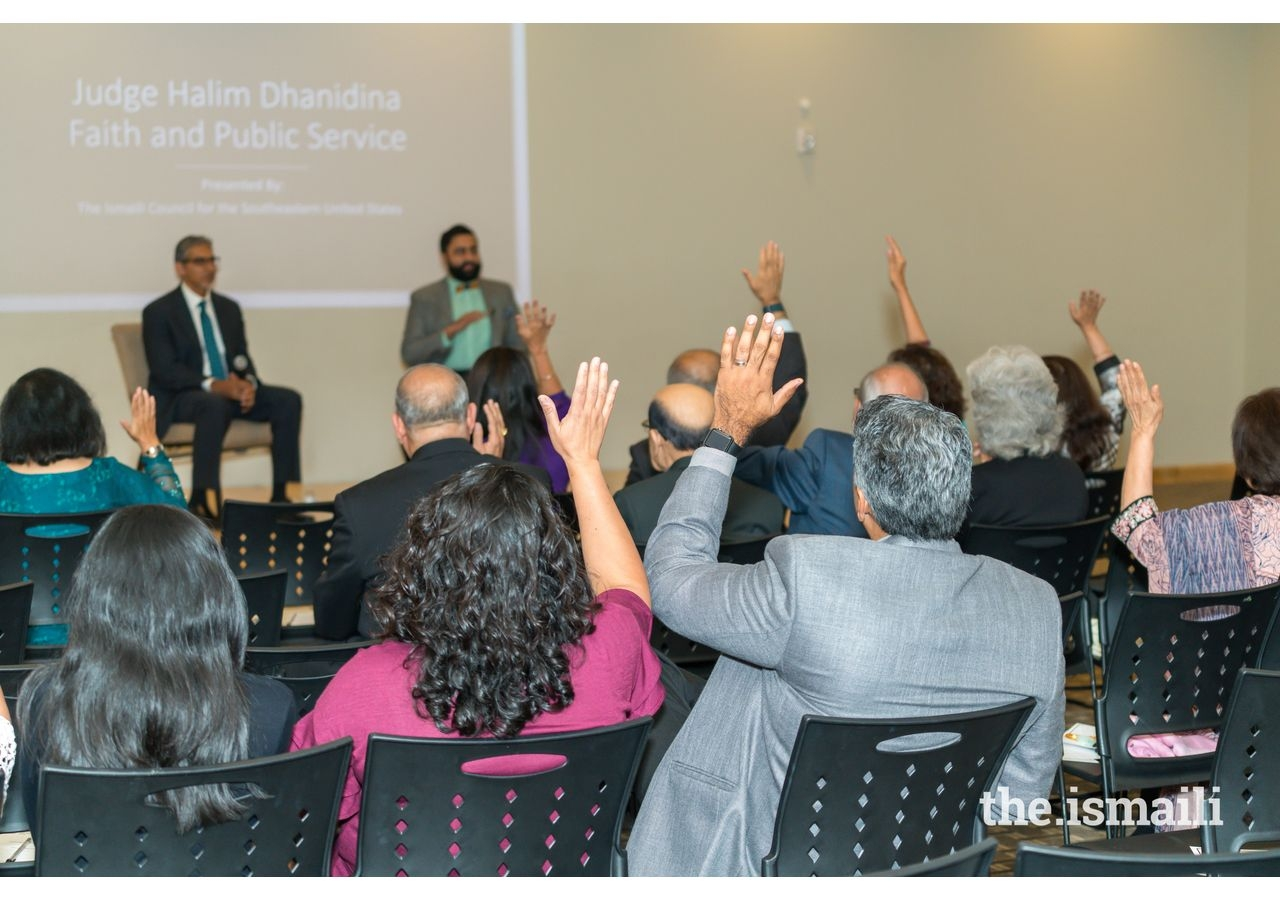 """Jamati members participating in the """"Faith and Public Service"""" discussions."""