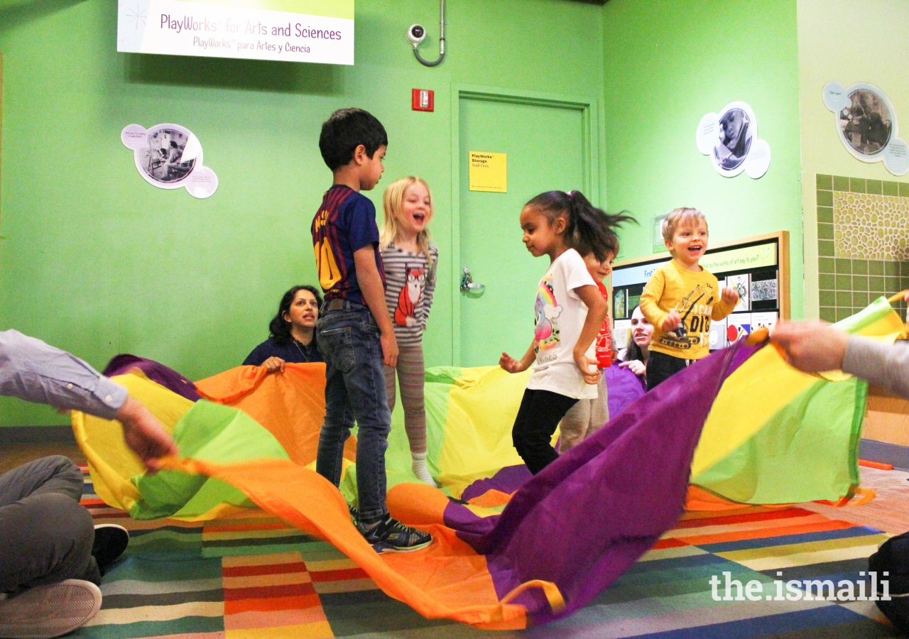 Shenaaz Jetha challenged children's minds and bodies as they acted out scenes from Navroz stories.