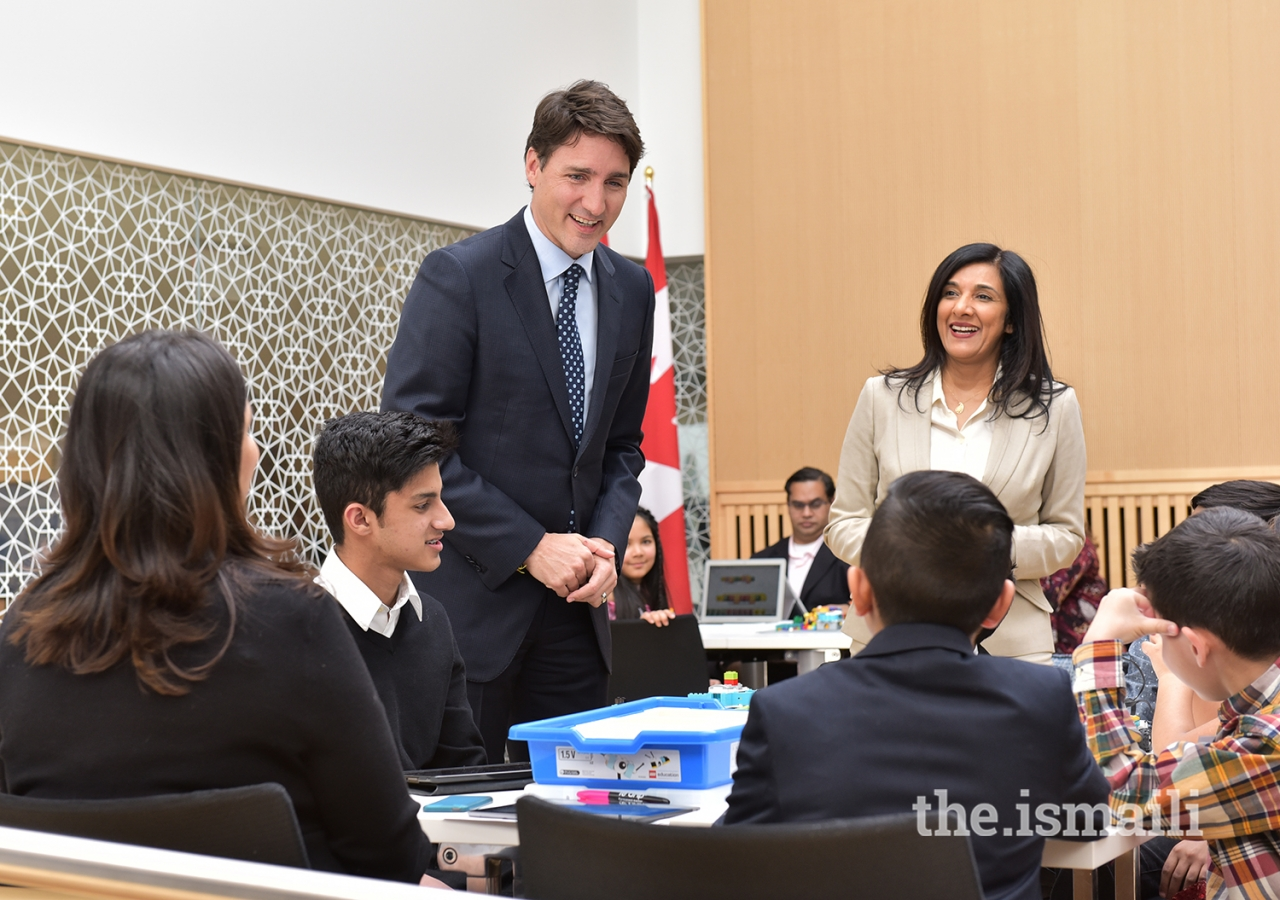 Prime Minister Trudeau discusses Navroz activities with children