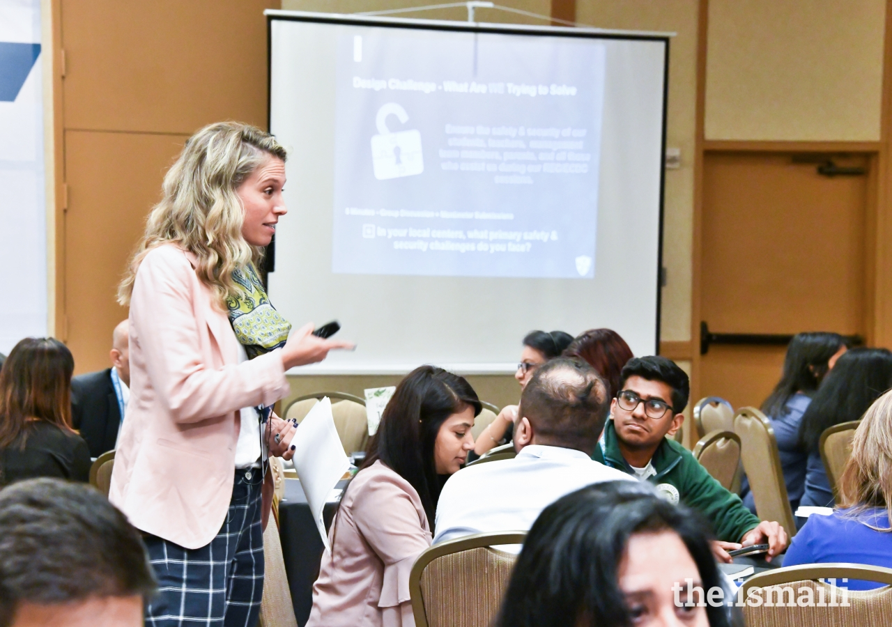 Megan Jaffer presenting a session at NMT.