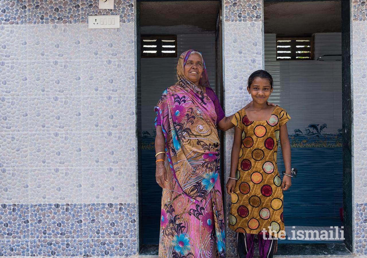 The comprehensive sanitation program includes focus on behaviour change, individual toilets, school sanitation, menstrual hygiene, and village cleanliness.