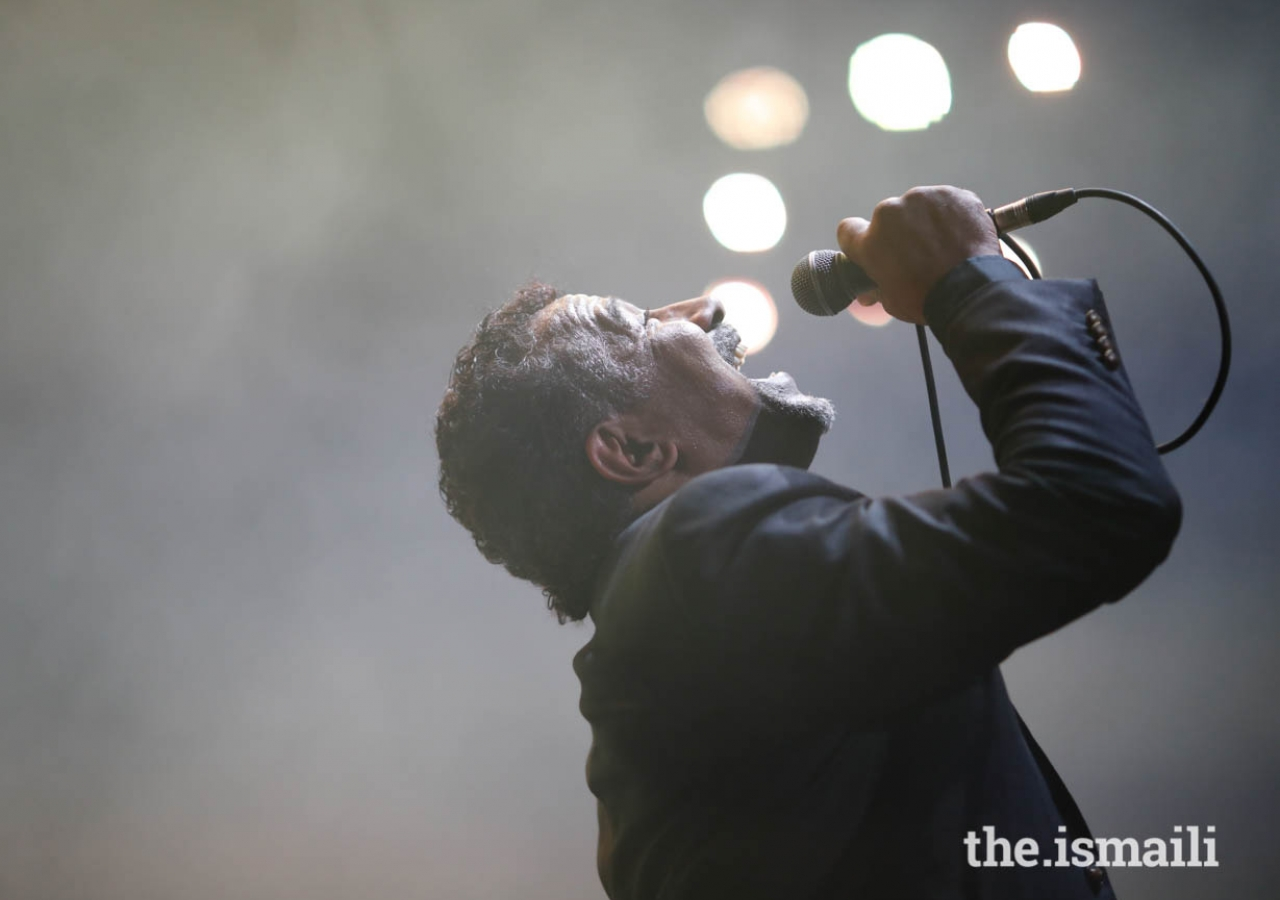 """Cheb Khaled sang various songs in French, Spanish, and Arabic at the """"Kings of Rhythm"""" concert in Lisbon, Portugal."""