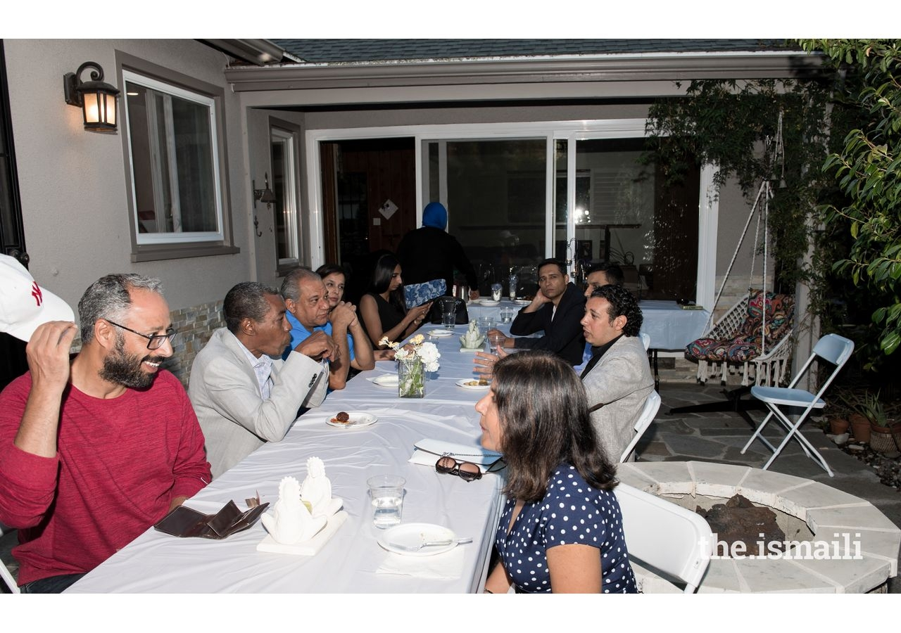 After-dinner conversation with Egyptian fellows.