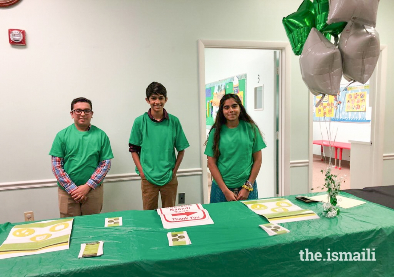 Tampa Jamat youth participating in Go-green launch.