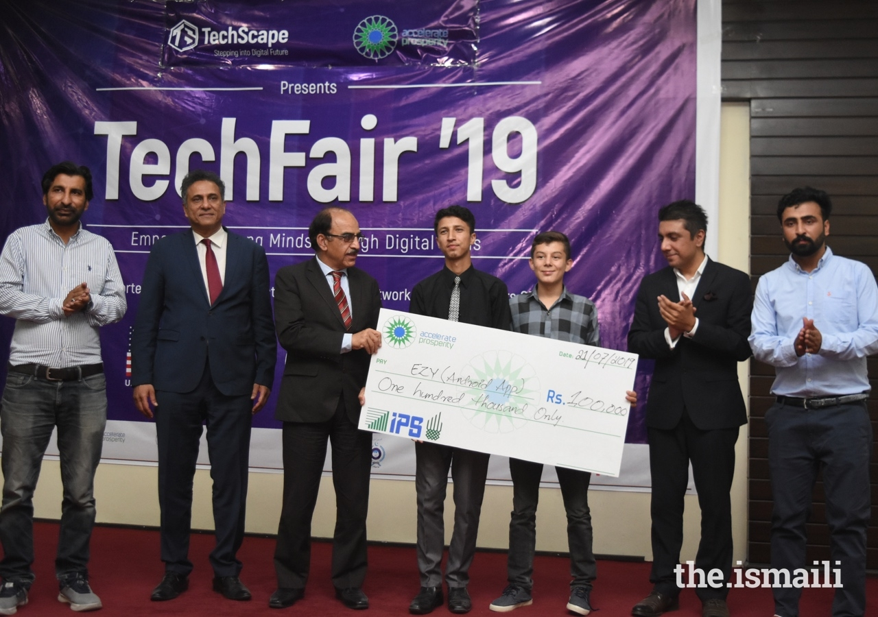 Syed Najum Ul Hassan, and Rashid Jan from Aga Khan Higher Secondary School in Gilgit were awarded a prize for their EZY application.
